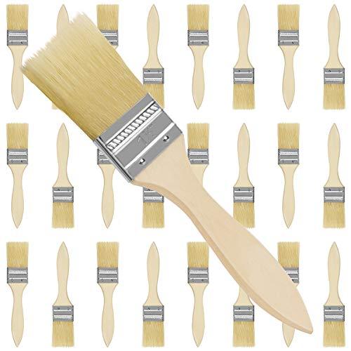 Kurtzy Set Brochas Pintor 3,81 cm (Pack de 25) Brocha Plana Pintura Mango de Madera Profesional para Pintura, Tintes, Barnices, Pegamentos y Bricolaje en el Hogar - Pack de Brochas para Pintar
