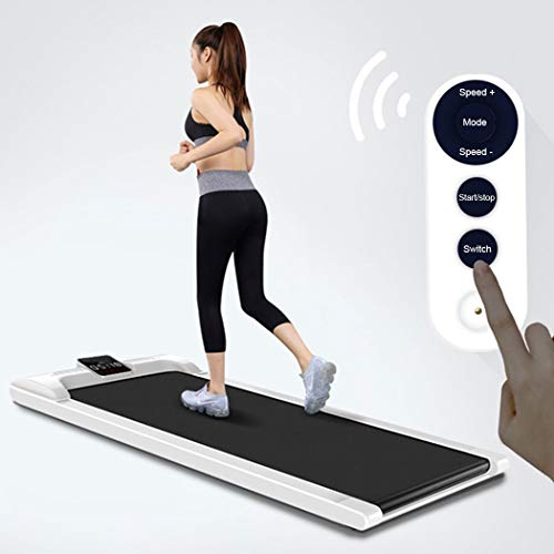 EKN Flat Running Machine Electric Treadmill Wireless Remote Control 19'' Wide Tread Belt W/Incline LED Display No Need Assembly with 6 Preset Programs Perfect for Home Use Treadmills