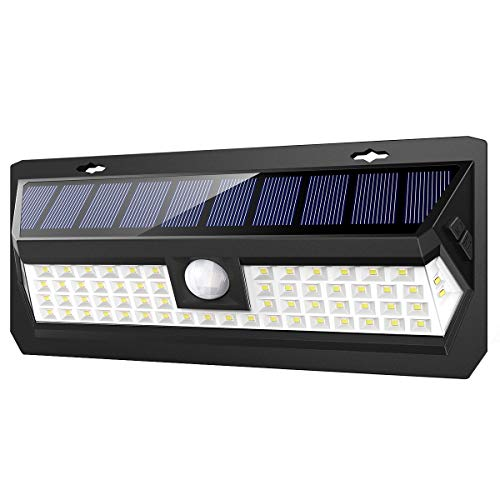 AMIR Solar Lights Outdoor, 62 LED Super Bright Motion Sensor Wall Lights, Wireless Garden Security Lights with 3 Modes, Waterproof & Auto On/Off for Front Door, Garage, Patio, Yard, Pathway