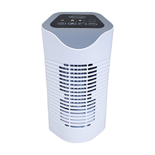 Silentnight Air Purifier with HEPA & Carbon Filters, Air Cleaner for Allergies, Pollen, Pets, Dust, Smokers; Home or Office; Ionizer and Timer Function 38060 [Energy Class A]