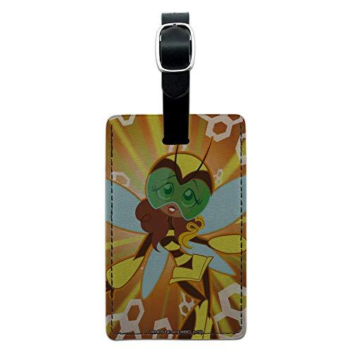DC Super Hero Mädchen Hummel rechteckig Leder Gepäck Karte Handgepäck ID Tag