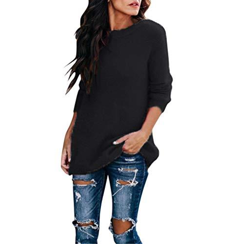 Blouses Chic Wrung Moutarde Jeux Chemisette Femme Manche Courte Tee Shirt personnalisé t Vert Top 12 Ans Noir t-Shirt Rock Chemisier Longue Tunique 20 Long Solde(Noir,X-Large)