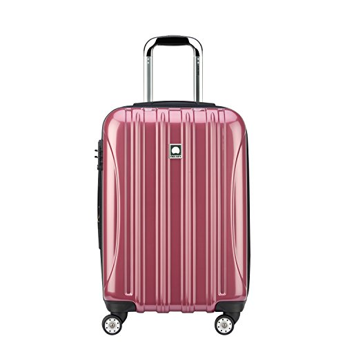DELSEY Paris Helium Aero Hardside Expandable Luggage with Spinner Wheels, Peony Pink, Carry-On 21 Inch