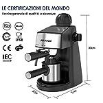 SOWTECH-Macchina-per-Caffe-Espresso-e-Montalatte-Acciaio-Inossidabile-Coffee-Maker-Espresso-Cappuccino-e-Latte-Machiato