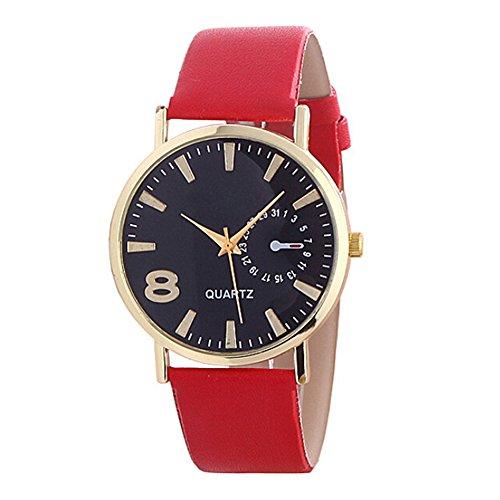 Sanwood Armbanduhr, Kunstleder, Legierung Gr. Einheitsgröße, rot
