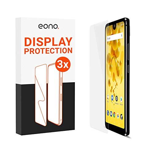 Amazon Brand – Eono Panzerglas kompatibel mit Wiko View 2 / View 2 Pro und Xiaomi Mi A3 - HD Schutzglas gegen Bildschirmbruch, Kratzer - Hüllenfre&lich, 2.5D, 9H Stärke - 3 Stück