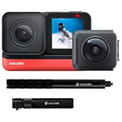 1 YEAR MANUFACTURER WARRANTY: We are an Insta360 Authorized Dealer, so you can buy with confidence. All ONE R cameras covered by the 1 year manufacturer warranty. 5.7K + 4K WIDE: The Insta360 ONE R is the first modular action camera featuring new SUP...