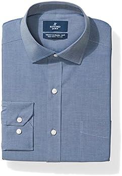 Buttoned Down Men's Tailored Fit Stretch Poplin Dress Shirt