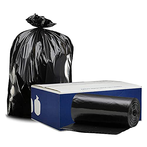 """Plasticplace - W65LDBTL 64-65 Gallon Trash Can Liners for Toter │ 1.5 Mil │ Black Heavy Duty Garbage Bags │ 50"""" x 60"""" (50 Count)"""