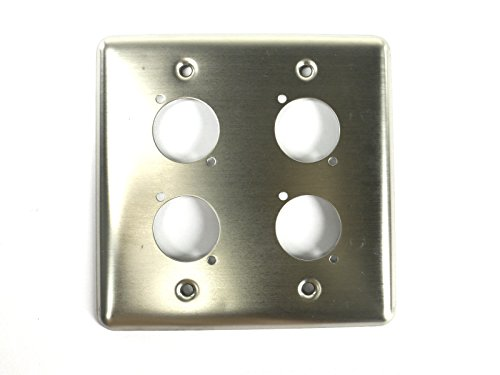 Elite Core Double-Gang Quad Stainless Wall Plate with 4 Series