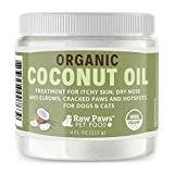Raw Paws Organic Coconut Oil for Dogs & Cats, 4-oz - Treatment for...