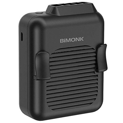OPOLAR USB Ventilator, Tragbarer Clip-Ventilatoren Klein Mini Ventilator mit 2200mAh Batterie, 2 Geschwindigkeiten, 360° Drehung Geeignet für Schlafzimmer Büro Camping im Freien-Schwarz