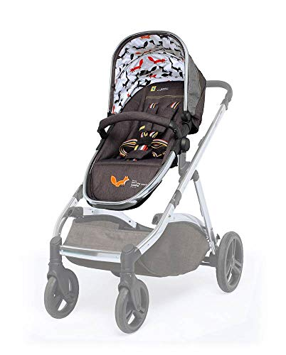 Cosatto Wow XL Pram Pushchair - Additional Seat Unit - Multiple Riding Options for Siblings & Twins (Mister Fox)