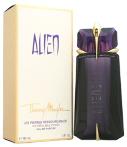 Alien by Thierry Mugler The Refillable Stones – 90 ml/3.0 oz EDP Spray recargable (Pack de 2)
