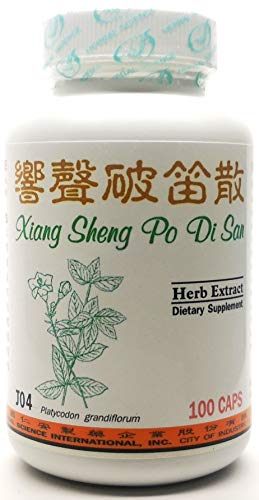 Voice Power Dietary Supplement 500mg 100 Capsules (Xiang Sheng Po Di San) J04 100% Natural Herbs