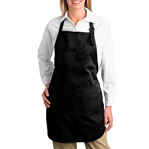 Rxi9s Our Forest Adventure Tent Adjustable Bib Apron With 2 Pockets Bbq Cooking Kitchen Restaurant Bar Chef Aprons For Women Men