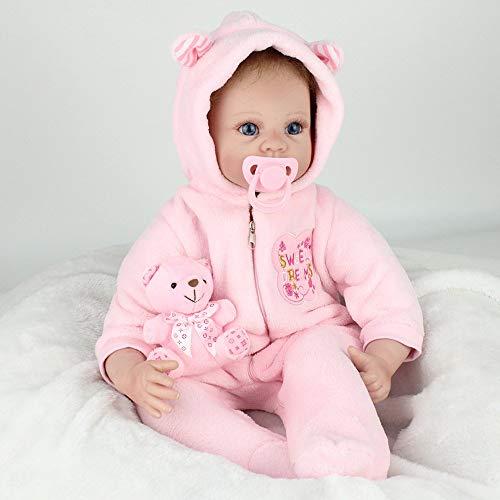 Vollsilikon Vinyl Reborn Babypuppe Magnetischer Mund Realistische Mädchen Babys Puppen 22 Zoll 55 cm Lebensechte Prinzessin Kinder Spielzeug Kinder Geburtstagsgeschenk