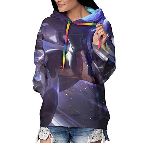Kaisa Hoodie für Frauen 3D Druck Pullover Hoodie Sweatshirt Causal Sportswear mit Taschen Gr. 48, Kaisa