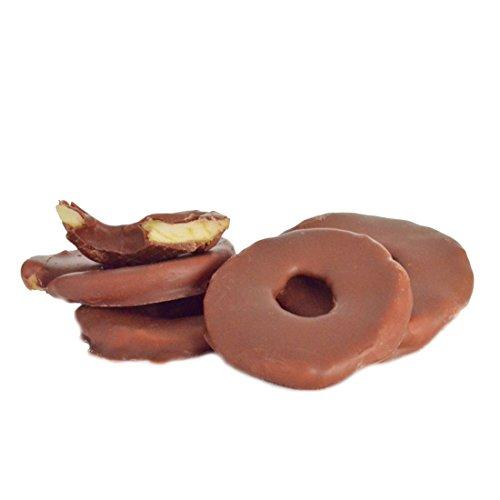 Apfelringe in edle Vollmilchschokolade 500 g | schokolierte Früchte