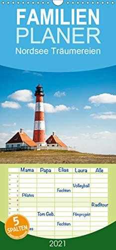 Nordsee Träumereien - Familienplaner hoch (Wandkalender 2021, 21 cm x 45 cm, hoch)