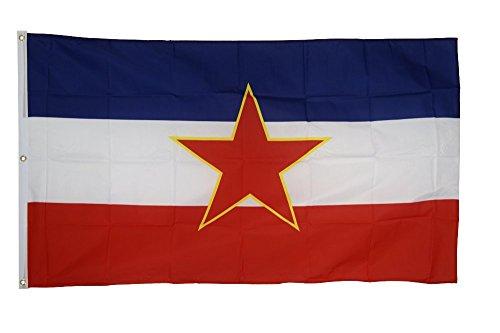 Flaggenfritze Fahne/Flagge Jugoslawien alt - 150 x 250 cm + gratis Sticker, XXL-Fahne