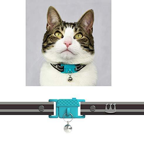 Kittyrama Collar para Gato y Gatitos. Ganador del Premio 'Cat Friendly'. Suave, Comodo, Hipoalergenico, con Hebilla de Liberacion. Visto en la Revista Vogue. Havana. Otros Estilos Disponibles
