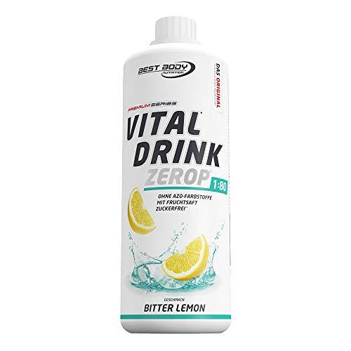 Best Body Nutrition Vital Drink Bitter Lemon, zuckerfreies Getränkekonzentrat, 1:80 ergibt 80 Liter Fertiggetränk, 1000 ml