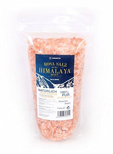Himanatur Rosa Kristallsalz aus der Himalaya Region, grob 2-5mm, 2er Pack (2 x 1000 g)