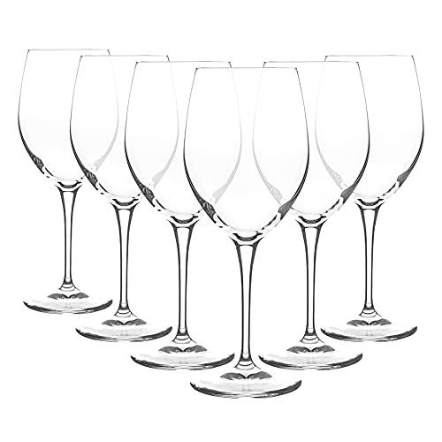 Bormioli Rocco Verres à vin Blanc Premium - Libre Italien Chardonnay Stemware Goblet Fine Rim - 590ml - Clear - Pack de 6