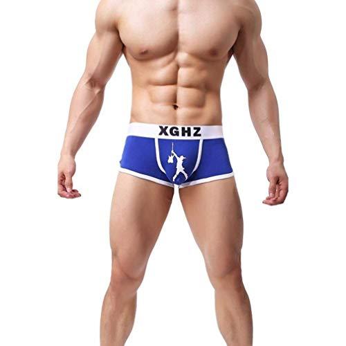 HaiDean Boxershorts voor heren, met warme, nonchalante tekst, moderne sche, bedrukte boxershorts