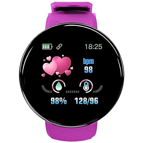 KSCLXN Relojes Inteligentes de Mujeres y Fitness, podómetros con monitores SPO2, monitores de frecuencia cardíaca, monitores del sueño, compatibles con Android iOS IP65 Relojes Deportivos,Rosado