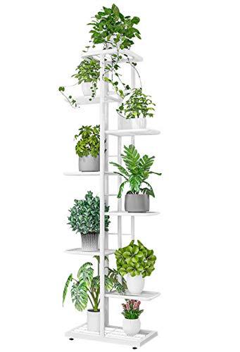 JEPRECO - Soporte de metal para plantas de 8 niveles, 9 macetas, varios estantes para jardín, balcón, patio, sala de estar, interior...