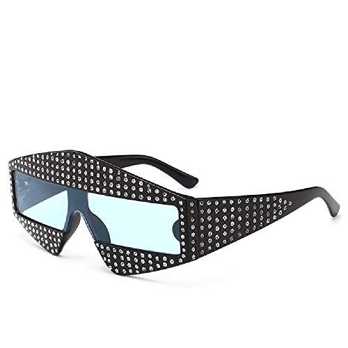 Nobrand Gafas de sol de diamantes personales, gafas de máscara facial de montura grande