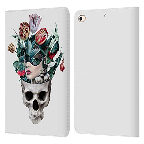 Official Riza Peker Girl Skulls 8 Leather Book Wallet Case Cover Compatible For Apple iPad mini (2019)
