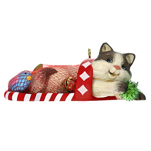 Hallmark Keepsake Christmas Ornament 2019 Year Dated Mischievous Kittens Cat in Stocking