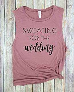 Sweating for the Wedding, Married AF Tank, Married AF bridal Tank, Newlywed Shirt, Honeymoon tshirt, Wifey shirt, wedding gift, bridal gift, funny wedding shirts, Just Married Tank, Wife To Be Tank