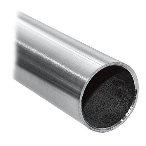 Pauli Edelstahldesign - Edelstahlrohr 33,7x2 mm² V2A Rohr VA Rundrohr Edelstahlrundrohr Edelstahl Rohr 100cm