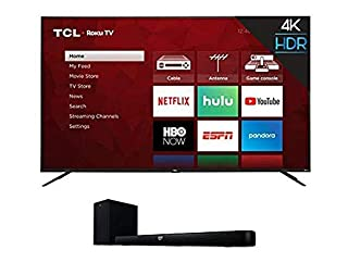 "TCL 75S425 75 Inch 4K UHD Smart Roku TV (2019) and Alto 7+ 2.1 Channel Home Theater Sound Bar with Wireless Subwoofer - TS7010, 36"", Black (B07RTNFNK8) 