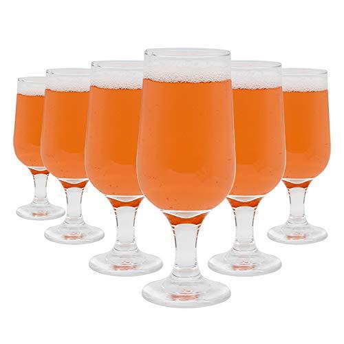 Umi.by Amazon Vasos de cerveza Juego de 6 Copas de vino 260ml Copas de coñac y Vaso para pinta