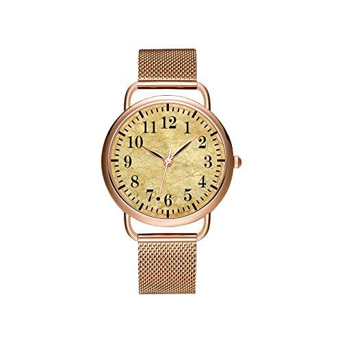 Frauen Uhren Marke Damen Mesh Gürtel ultradünne Uhr wasserdichte Uhr Quarzuhr Weihnachten Classic Rugby-Armbanduhren