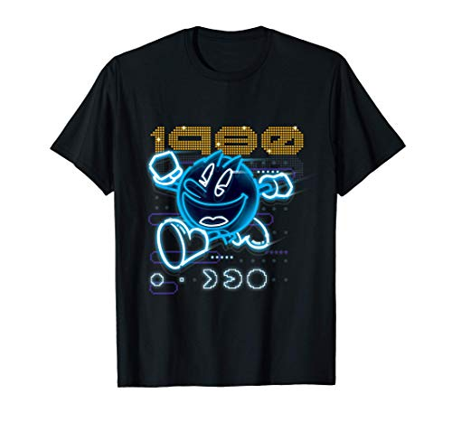 Neon 3D Pac-Man 1980 T-shirt in 7 Colors for Adults, Kids Up to 3XL