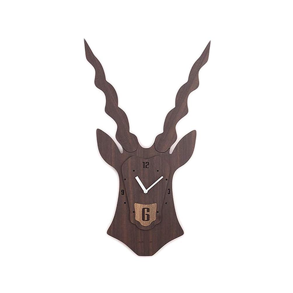 XYENJOY Bucks Wall Clock, Stylish Simple Pine MDF Wall Decoration Quartz Clock, 63.537cm,Brown