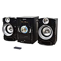 powerful Magnavox MM440 Digital PLLFM Stereo Receiver, 3-Part CD Shelf System with Bluetooth …
