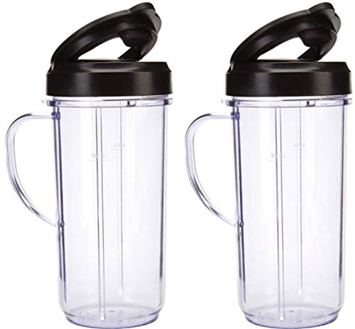 2 Bullet On The Go Mugs for Magic Bullet with Flip...