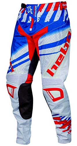 HEBO Stratos Pantalón Enduro-Cross, Adultos Unisex, Blanco, XML