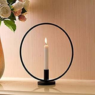 BWRMHME New Modern Metal Gold Ring Candlestick Holders Wedding Decoration Candle Holders for Home Holiday Dinner Decor Bar...