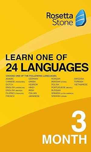 Rosetta Stone   Learn 1 of 24 Languages   1 Benutzer   3 Monate   PC/Mac   Aktivierungscode per Email