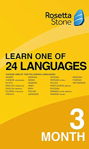 Rosetta Stone: Learn 1 of 24 Languages | 1 User | 3 Months | PC/Mac | Activation Code by email