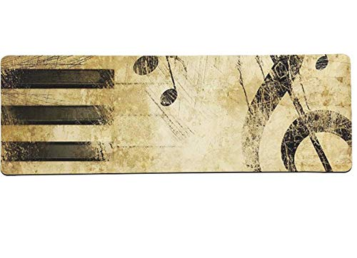Muis Pad Muziek Opmerkingen Piano Viool Gamer Spelen Matten Mousepad Grote Muis Pad Toetsenborden Mat Non-Fading Pad Grote Maat 800 * 300 * 3 Mm