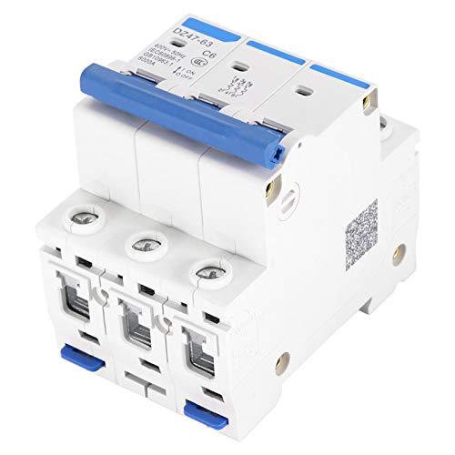 Disyuntor en miniatura 400V Mini disyuntor de acción sensible Inoxidable Incombustible para caja combinadora Sistemas de CC Generación de energía solar(6A)